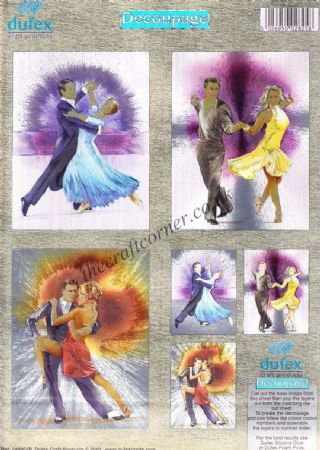 Ballroom Dancing Twin Pack 3d Die Cut Decoupage Sheet From Dufex